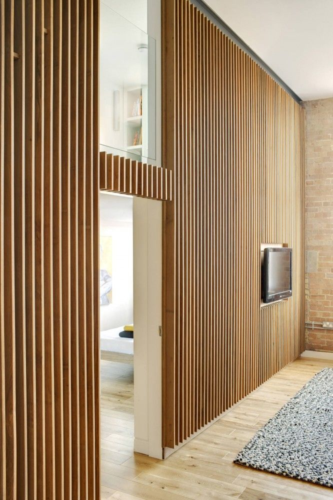 Corrugated Metal Accent Wall Hout in het interieur