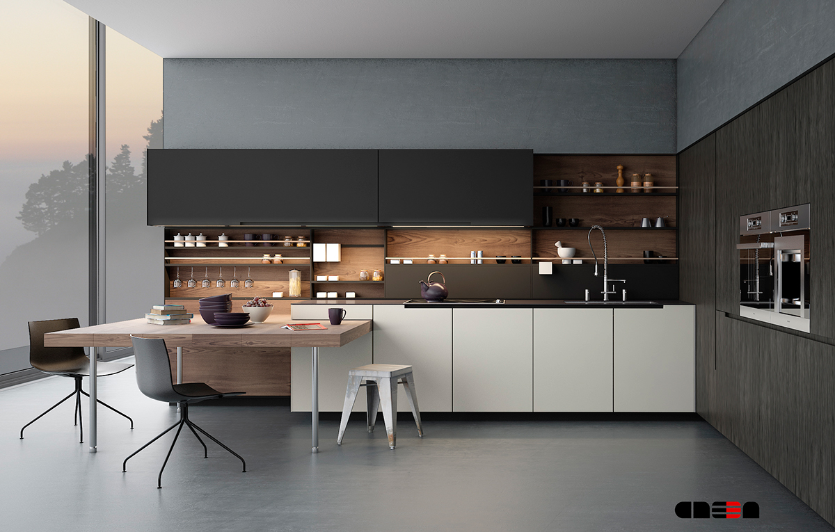 20 strakke maar knappe keukenontwerpen for Built in kitchen designs