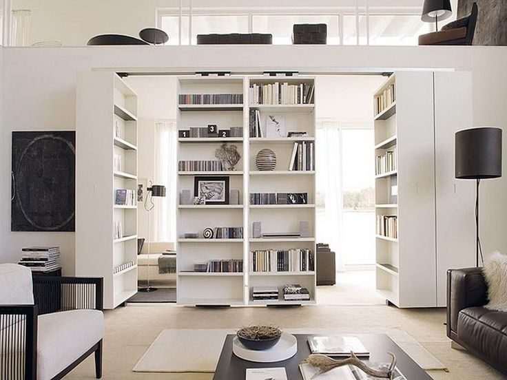 modern home interior big bookcase contemporary ikea room divider design